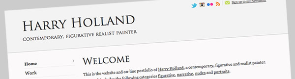 New website for Harry Holland